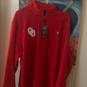 Oklahoma sooners quarter zip fleece
